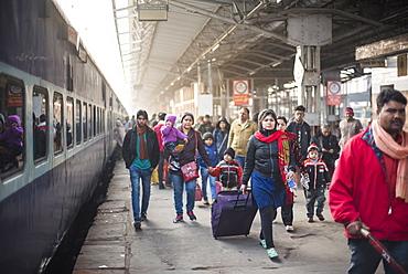 Lucknow train station, Uttar Pradesh, India, Asia