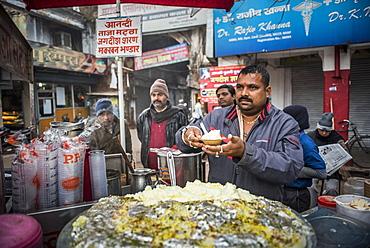 Malaiyo, a traditional sweet food of North India, Lucknow, Uttar Pradesh, India, Asia