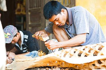 Carpenter, Hoi An, Vietnam, Indochina, Southeast Asia, Asia