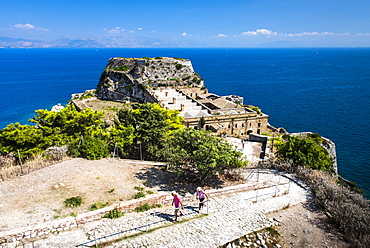The Old Fortress and Corfu Town in the Ionian Islands, Greece, Europe