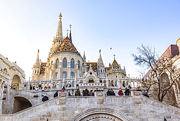 Matthias Church in Buda Castle District, UNESCO World Heritage Site, Budapest, Hungary, Europe