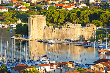 Kamerlengo Fortress (Gradina Kamerlengo) at sunrise, Trogir, UNESCO World Heritage Site, Dalmatian Coast, Adriatic, Croatia, Europe