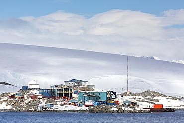 United States Palmer Research Station in Arthur Harbor, Antarctica, Southern Ocean, Polar Regions
