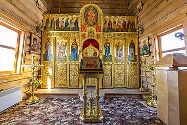Eastern Orthodox Trinity Church, Bellingshausen Russian Station, Collins Harbour, King George Island, South Shetland Islands, Antarctica, Polar Regions