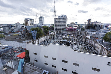 Reconstruction efforts in Christchurch, South Island, New Zealand, Pacific