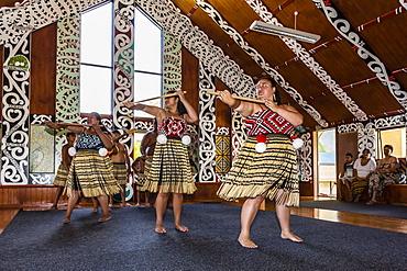 Poi dancers at Pakowhai Marae, Gisborne, North Island, New Zealand, Pacific