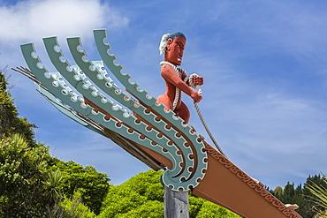 Maori sculpture in Kaikoura, South Island, New Zealand, Pacific