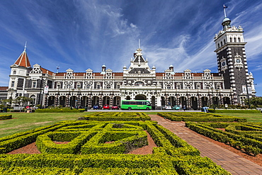 Dunedin Railway Station in Dunedin, Otago, South Island, New Zealand, Pacific