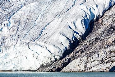 Glacier detail in Icy Arm, Baffin Island, Nunavut, Canada, North America