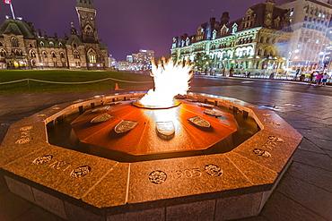 Centennial Flame commemorating Canada's 100th anniversary as a Confederation, Parliament Hill, Ottawa, Ontario, Canada, North America