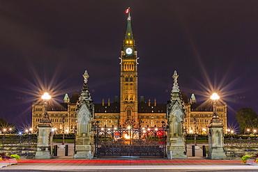 Parliament Hill and the capital Parliament Building, Ottawa, Ontario, Canada, North America