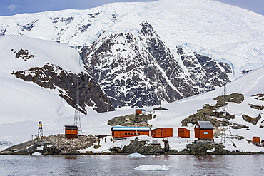 The unattended Argentine Research Station Base Brown, Paradise Bay, Antarctica, Polar Regions