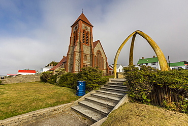 Exterior view of the Anglican Church in Stanley, Falkland Islands, UK Overseas Protectorate, South America
