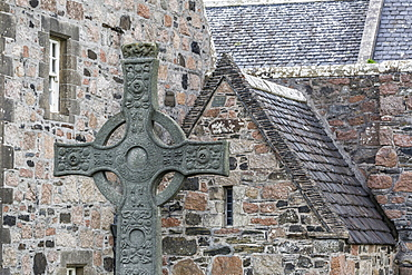 Exterior view of the Iona Abbey on Iona Island, western Outer Hebrides, Scotland, United Kingdom, Europe