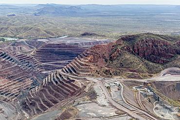 Aerial view of the Argyle Diamond mine, Kimberley, Western Australia, Australia, Pacific