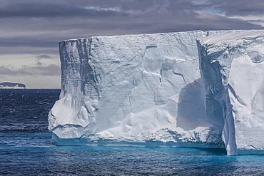 Tabular iceberg in the Gerlache Strait, Antarctica, Polar Regions