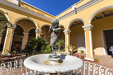 The inner courtyard of the Palacio Cantero, Museo Historico Municipal, in the town of Trinidad, UNESCO World Heritage Site, Cuba, West Indies, Caribbean, Central America