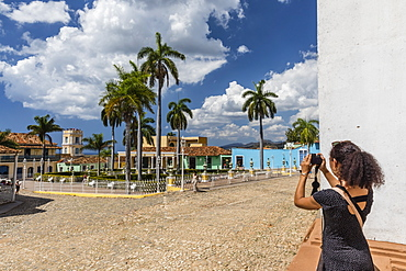 A view of the Plaza Mayor in Trinidad, UNESCO World Heritage Site, Cuba, West Indies, Caribbean, Central America