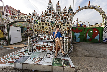 The whimsical ceramic art of Jose Fuster in the small town of Jaimanitas, on the outskirts of Havana, Cuba, West Indies, Central America