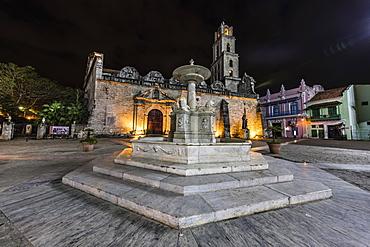 Fuentes de los Leones (Fountains of the Lions), in the Plaza de San Francisco, Havana, Cuba, West Indies, Central America