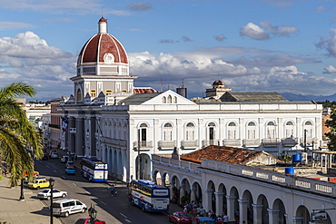 The rotunda of the Antiguo Ayuntamiento, home of the provincial government building in Cienfuegos, UNESCO World Heritage Site, Cuba, West Indies, Central America
