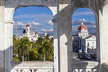 Catedral de la Purisima Concepcion on left, and Antiguo Ayuntamiento on right, Cienfuegos, UNESCO World Heritage Site, Cuba, West Indies, Central America