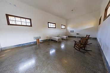 The room in Presidio Modelo where Fidel Castro and his brother Raul were imprisoned, Isla de la Juventud, Cuba, West Indies, Central America