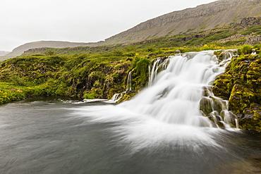 Dynjandi (Fjallfoss), a series of waterfalls located in the Westfjords (Vestfirdir), Iceland, Polar Regions