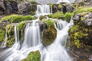 Dynjandi, Fjallfoss, a series of waterfalls located in the Westfjords (Vestfirdir), Iceland, Polar Regions