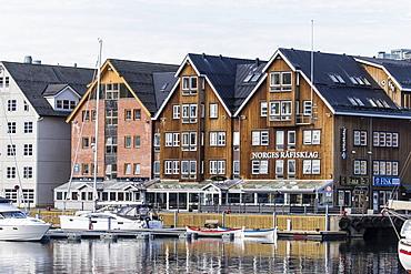 View of the harbor in Tromso, Norway, Scandinavia, Europe