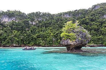 Zodiac tour of the island of Vanua Balavu, Northern Lau Group, Republic of Fiji, South Pacific Islands, Pacific