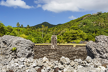 Taputapuatea marae, UNESCO World Heritage Site on Raiatea, Society Islands, French Polynesia, South Pacific, Pacific