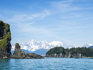 The Fairweather Range as seen from Fern Harbour, Glacier Bay National Park, Southeast Alaska, United States of America