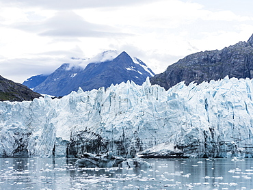 The Margerie Glacier, whose face is retreating, in Glacier Bay National Park, Southeast Alaska, United States of America