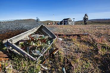 Radio and Meteorology station, Myggebukta (Mosquito Bay), Christian X's Land, Northeast Greenland, Polar Regions