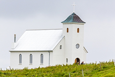 Church on Flatey Island, Iceland, Polar Regions