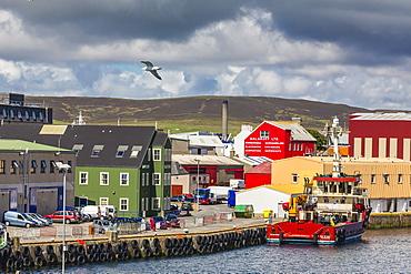 Views of the port of Lerwick, Shetland Islands, Scotland, United Kingdom, Europe