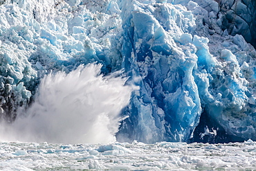 South Sawyer Glacier calving, Tracy Arm-Ford's Terror Wilderness area, Southeast Alaska, United States of America, North America