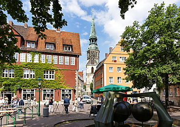 Ballhofplatz and Kreuzkirche, Hannover, Lower Saxony, Germany