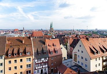 View from the Imperial Castle to Nuremberg, Middle Franconia, Bavaria, Germany