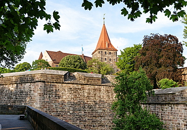 Bastions of the Imperial Castle, Nuremberg, Middle Franconia, Bavaria, Germany