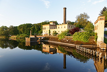 Lake with reflection, Jungfernsee, Dairy in the New Garden, Potsdam, Brandenburg, Germany