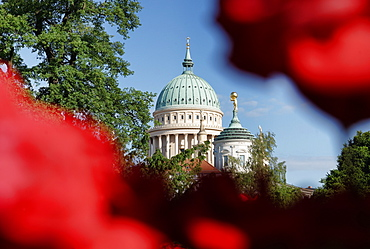 Domes of the church of St. Nicholas and the old town hall, Potsdam, Brandenburg, Germany
