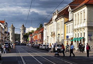 Friedrich Ebert Street with Nauen Gate, Potsdam, Brandenburg, Germany
