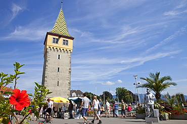Mang tower in Lindau, Lake Constance, Swabian, Bavaria, Germany, Europe