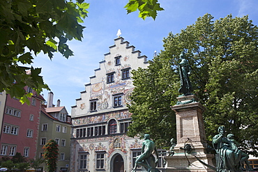Historical city center of Lindau, Lake Constance, Swabian, Bavaria, Germany, Europe