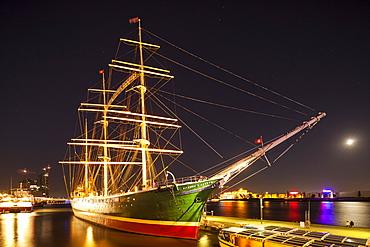 Museum ship Rickmer Rickmers, Hamburg, Germany