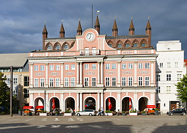 City Hall, Neuen Markt, Hanseatic City of Rostock, Mecklenburg-Western Pomerania, Germany
