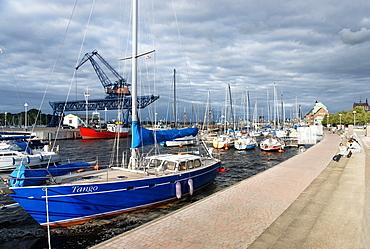City harbour, Unterwarnow, Hanseatic City of Rostock, Mecklenburg-Western Pomerania, Germany