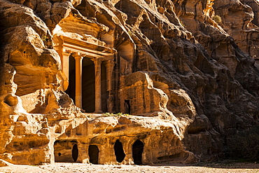 Temple, Siq el-Barid, Little Petra, Wadi Musa, Jordan, Middle East